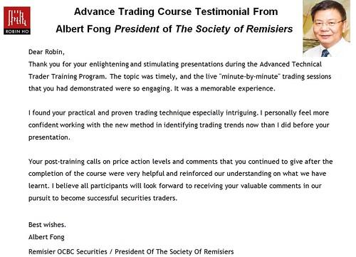 Course Testimonial ALbert Fong