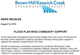 Brown Hill Creek Community Consultation Results