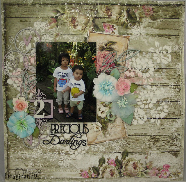 """2 Precious Darlings"" Layout"