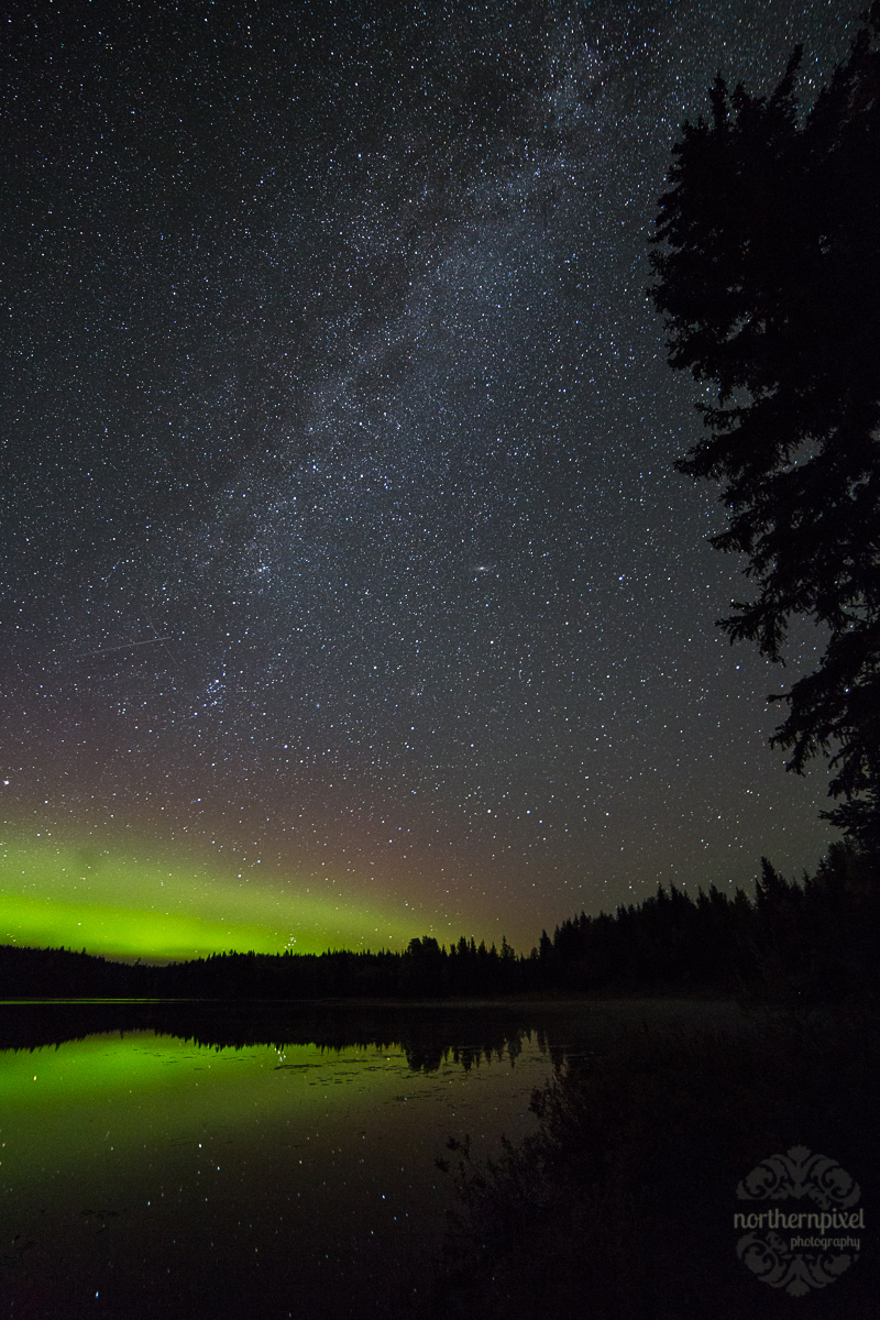 Northern Lights at the end of Milky Way