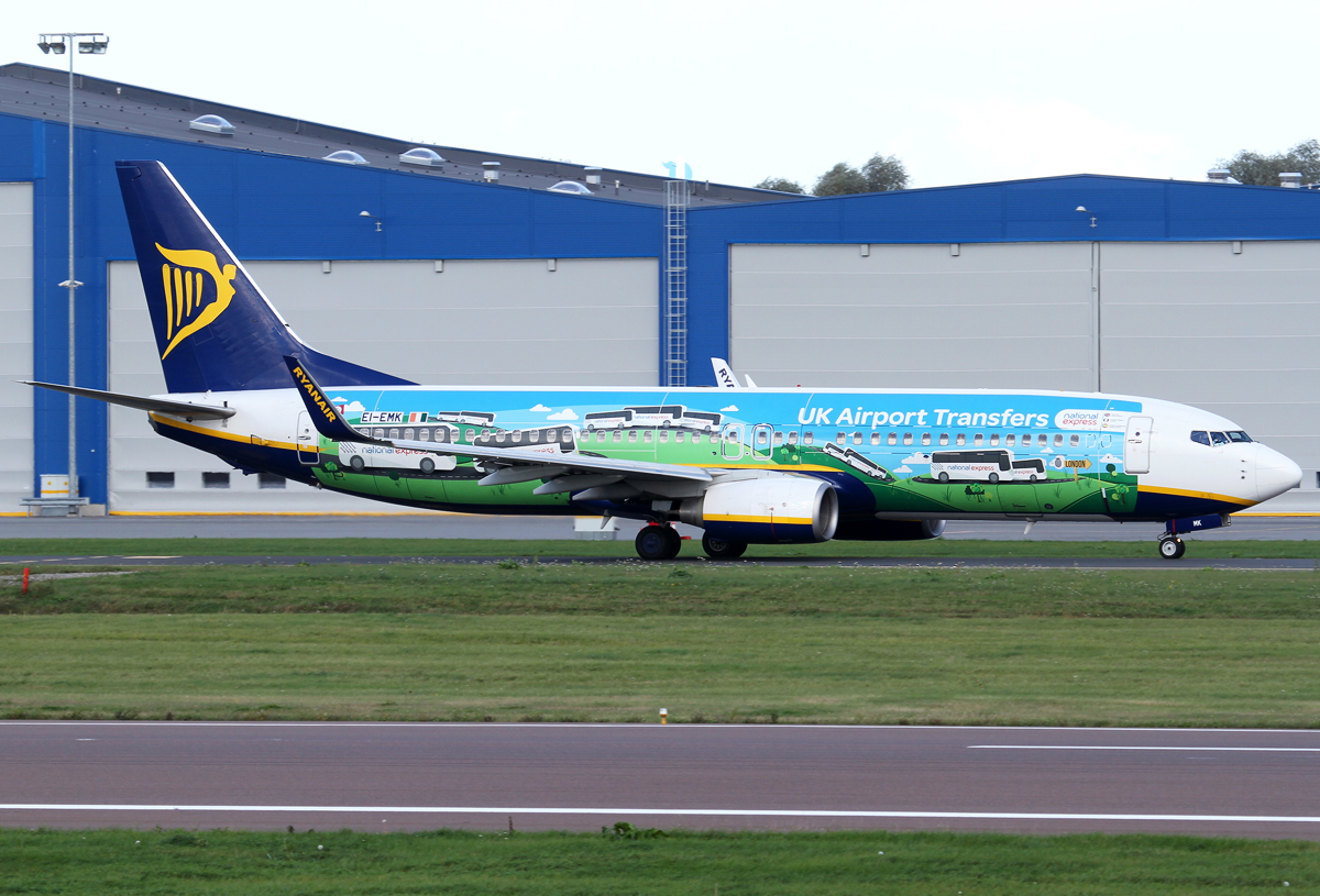 "On the way to RWY26 for departure to London Standsted STN. ""UK airport transfers"" livery. Delivered 05/2010."