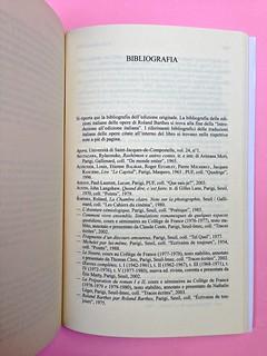 Roland Barthes, Il discorso amoroso. Mimesis 2015. Bibliografia, a pag. 635 (part.), 1