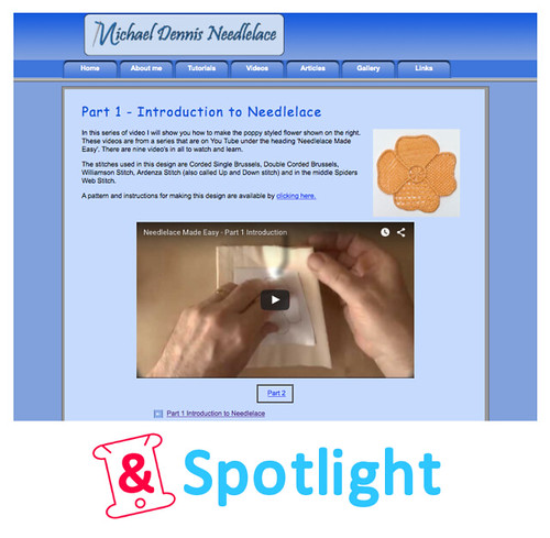 &Spotlight - Michael Dennis Needlelace Tutorials
