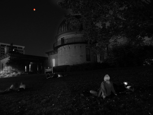 Watching the Eclipse on Observatory Hill