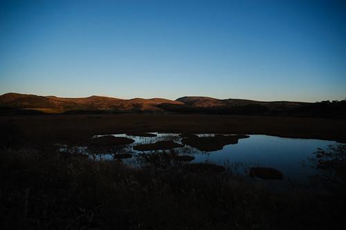 湿原は夜を迎える