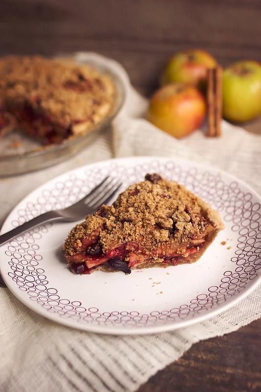 Grain-free Apple Berry Crumb Pie (Paleo with vegan and AIP options)