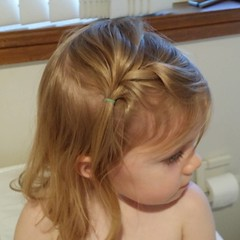 First fancy plait...just! And it mostly lasted the day! #mybeautifulbaby #mummyneedstopractice #longblondhair #unfiltered