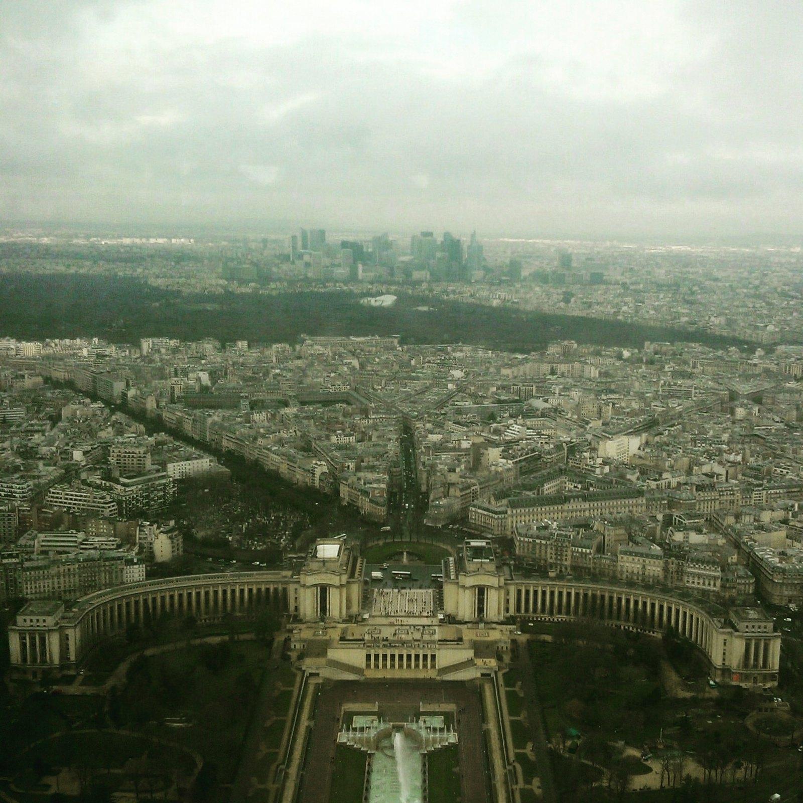 La Defence vista dalla Torre Eiffel