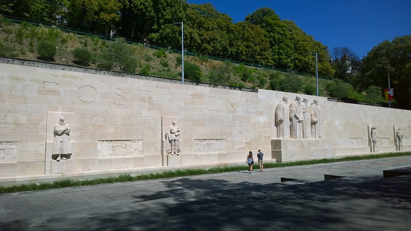 Reformation wall at Geneva, Switzerland