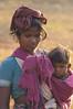 Baiga woman with child