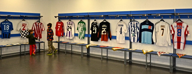 locker room - La Rosaleda Malaga FC Stadium Tour