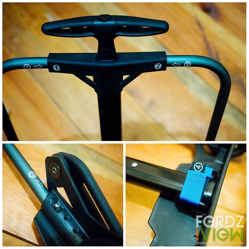 Handle bar and frame tubes connection