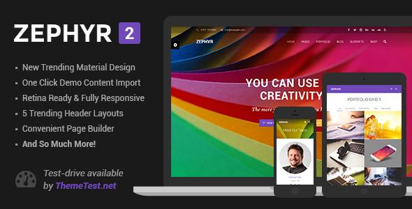 ThemeForest Zephyr v2.4.1 - Material Design Theme