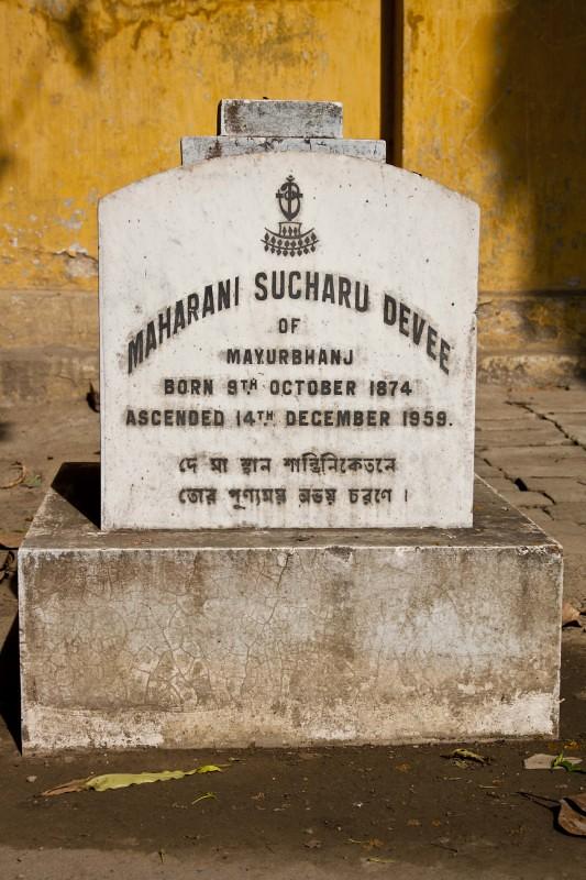 Nabadebalaya - Grave of Sucharu Devi (Maharani of Mayurbhanj) - Brahmo Cemetery, Kolkata, India