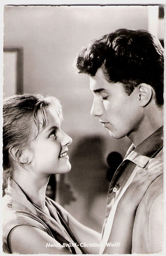 Heidi Brühl and Christian Wolff in Die Frühreifen (1957)