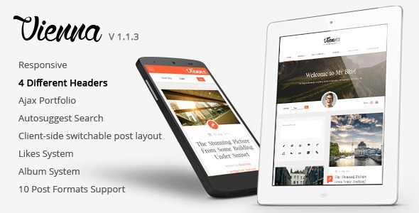 Themeforest Vienna v1.1.3 - Content Focused Personal Blog Theme