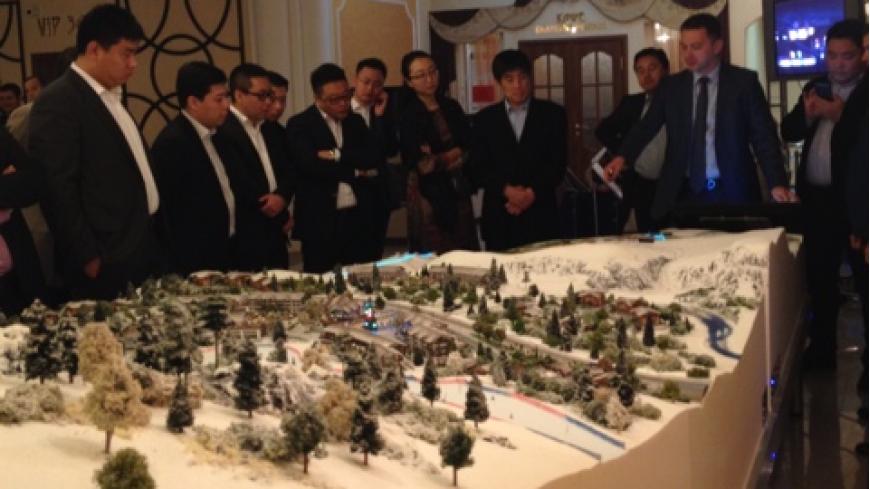 Макет будущего горнолыжного курорта Лагонаки представили китайским инвесторам