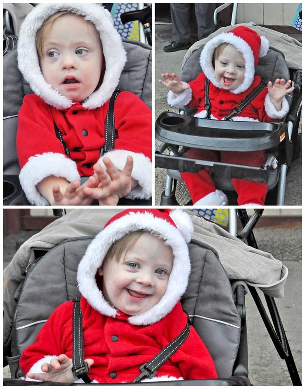 Liam at the Christmas Parade