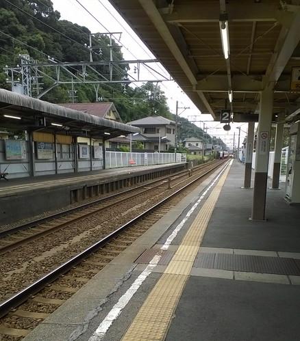 北鎌倉駅に雰囲気が似てる!踏切を渡らないと改札口に行けないところも同じ!(笑)
