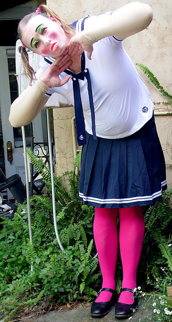 Tranny School Uniform - Nude Moms-7214