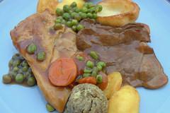 Roast Beef, Chicken, Roast Potato, Peas, Carrots,…