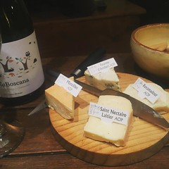 My evening meal at home began with cheese that included labels  #cheese #frenchcheeseboard