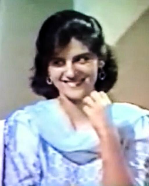 Marina Khan around 30 years ago