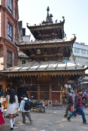 Nepal - Kathmandu - Streetlife With Temple - 119
