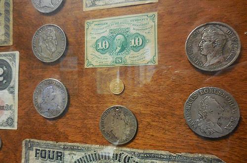 First National Bank in Marquette MI coin display