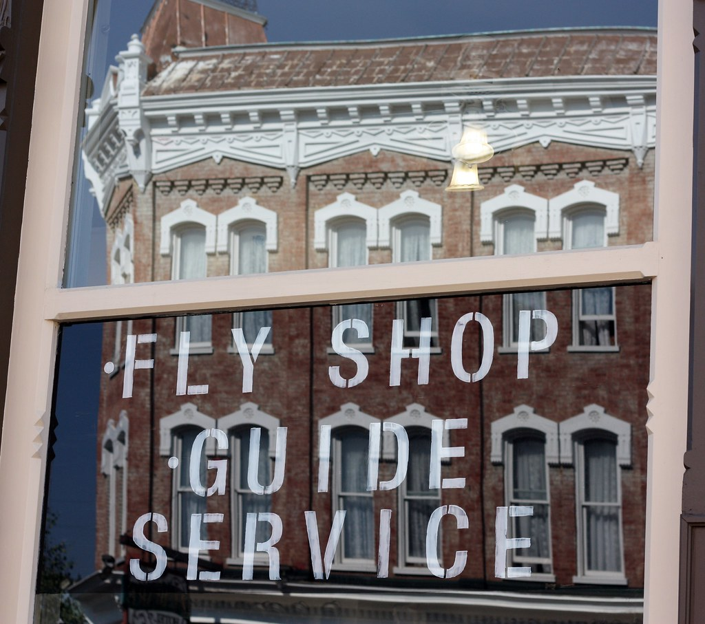 Colorado Leadville Fly shop guide sign