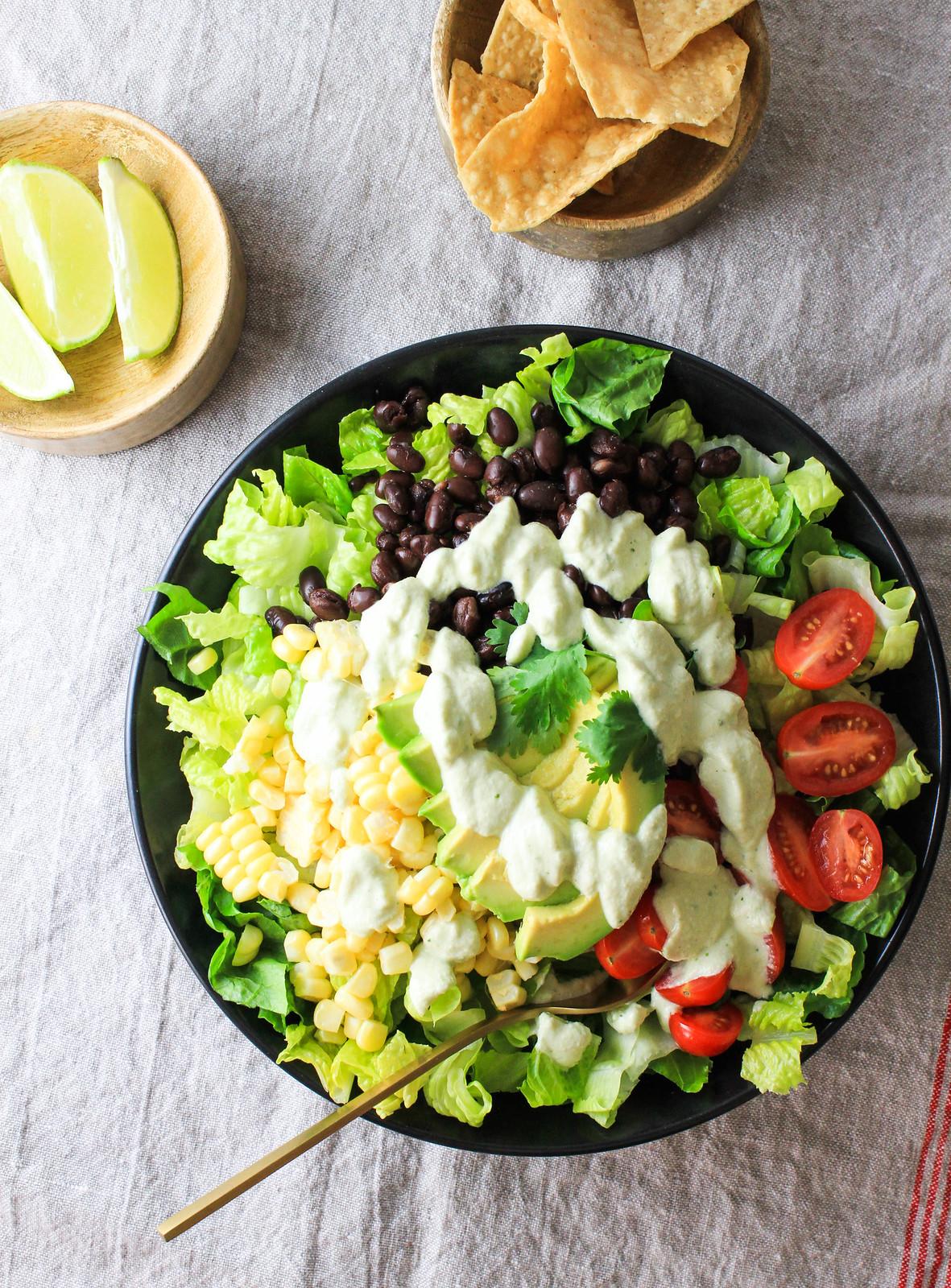 Southwestern Salad + Hatch Chile Cashew Dressing