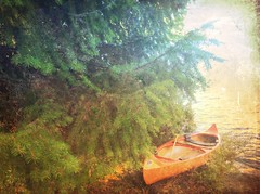 Our canoe at the Cabin