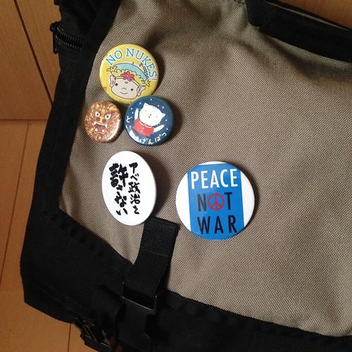 my bag w/badges