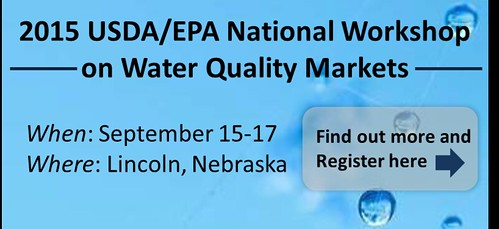 2015 USDA/EPA National Workshop on Water Quality Markets graphic