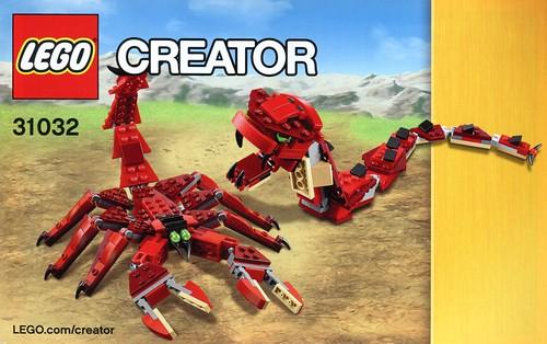 LEGO Creator 31032 Red Creatures ins02