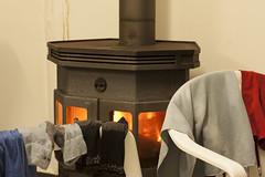 room, wood-burning stove, iron, lighting, hearth,