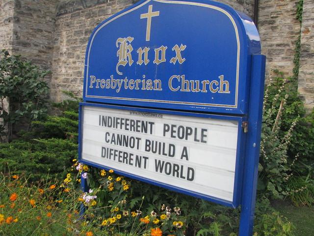 Knox Presbyterian Ottawa: Indifference