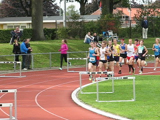 5 km track race first lap