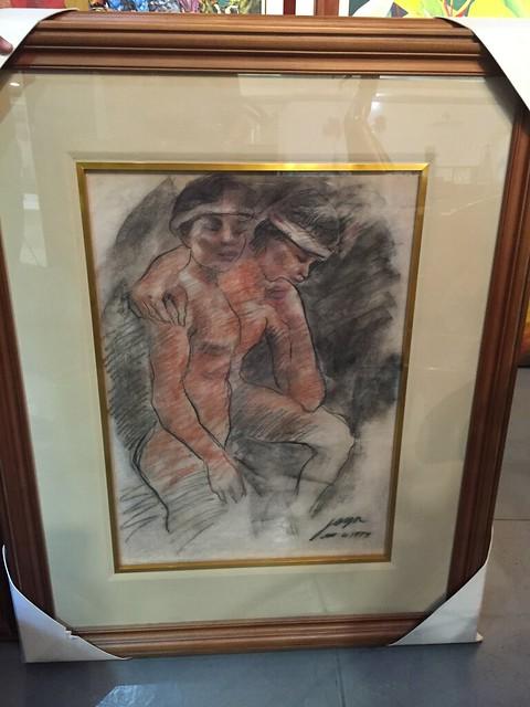 Two naked men, Joya,  pastel