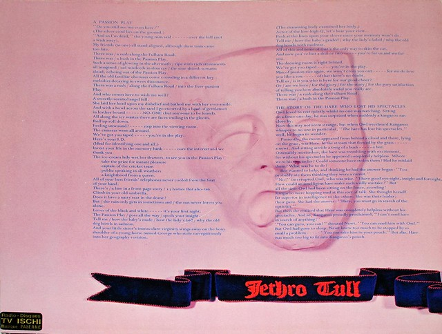 "JETHRO TULL PASSION PLAY FOC / GATEFOLD 12"" LP"