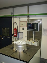 Cornering test machine in Germany