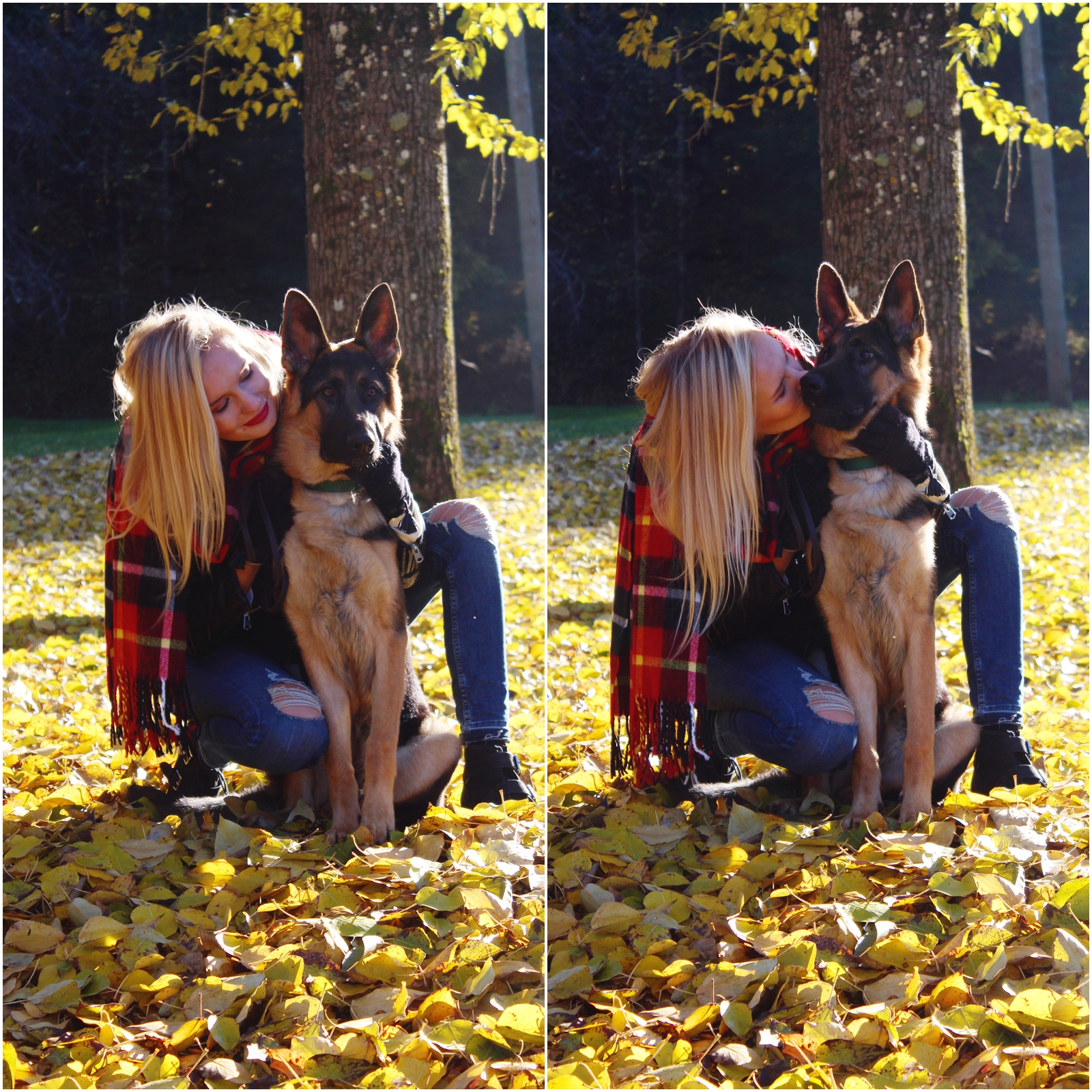 latvian fashion blogger and her cute puppy