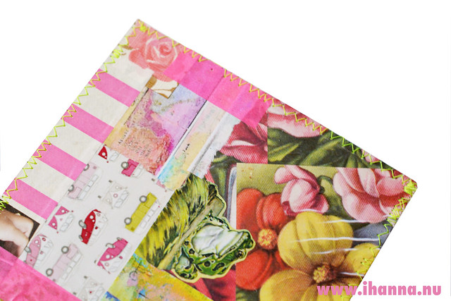 Sewn Postcard Edge in neon yellow by iHanna