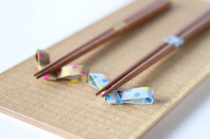 washi tape chopstick rests