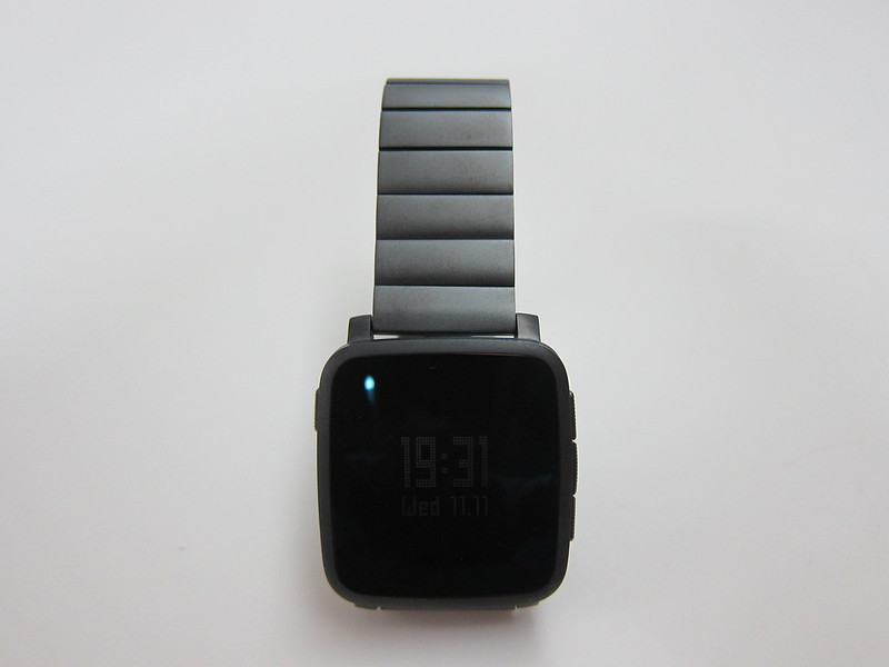 Pebble Time Steel - Gunmetal Black Steel Band - With PTS