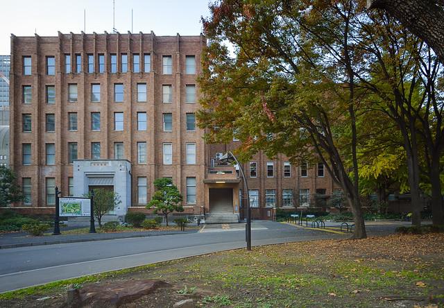 Facade of Tokyo Metropolitan Hibiya Public Hall (日比谷公会堂)