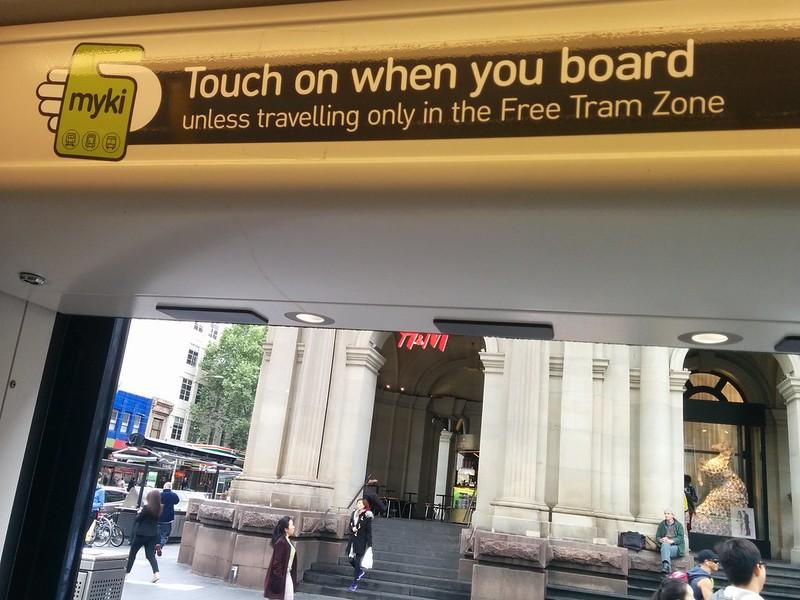New Myki signage on trams, October 2015