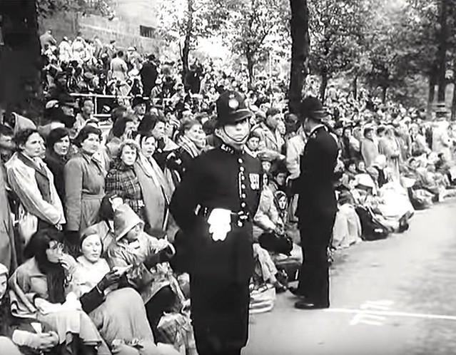 2nd of June 1953, Horseguards Approach Road, Westminster, London, SW1. UK. Coronation of Queen Elizabeth II