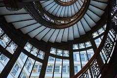Semi-circular staircase.