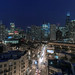 An evening view from a Kenect penthouse apartment by YoChicago